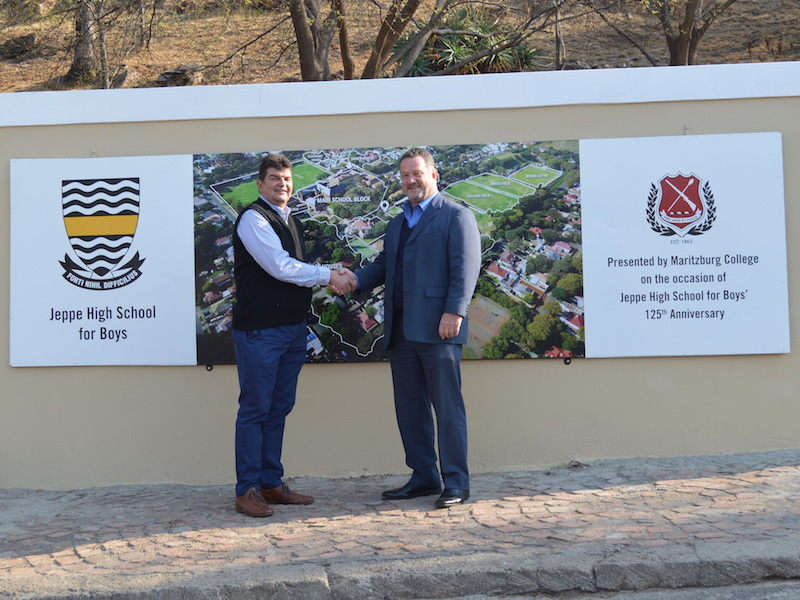 Jeppe High School For Boys Donated A Sign Commemorating Maritzburg Colleges 150th Anniversary Two Years Ago And In Gesture Of Solidarity